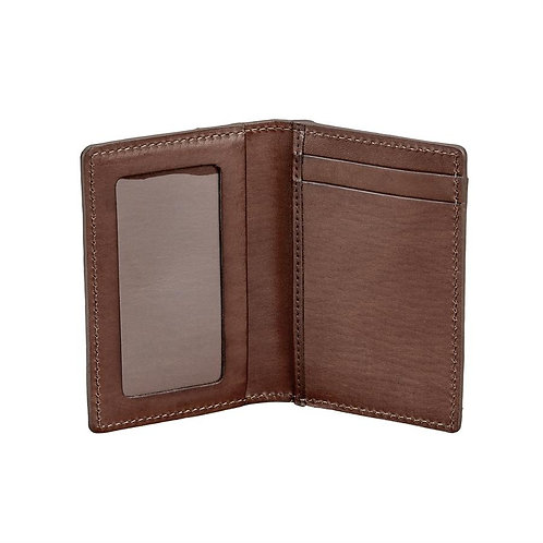 Card Case With ID Holder Vachetta Leather