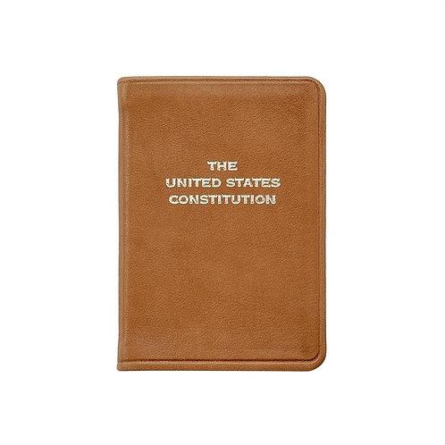 Mini United States Constitution in British Tan