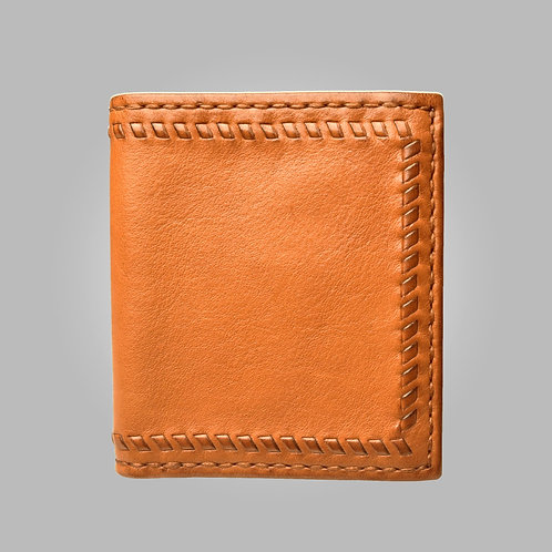Alcott Hand Stitched Leather Wallet in Tan