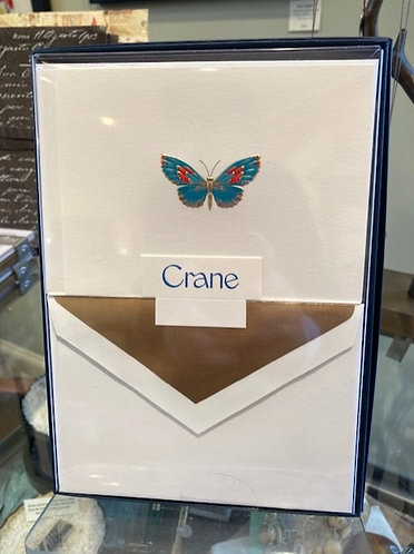 Crane Engraved Butterfly Notes