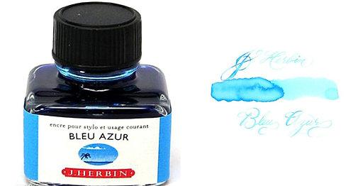 J. Herbin Bottled Ink Blue Azur