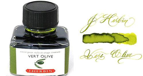 J. Herbin Bottle Ink Vert Olive