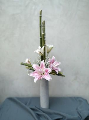 Bouquet sur cylindre De Fleurs en Couleurs