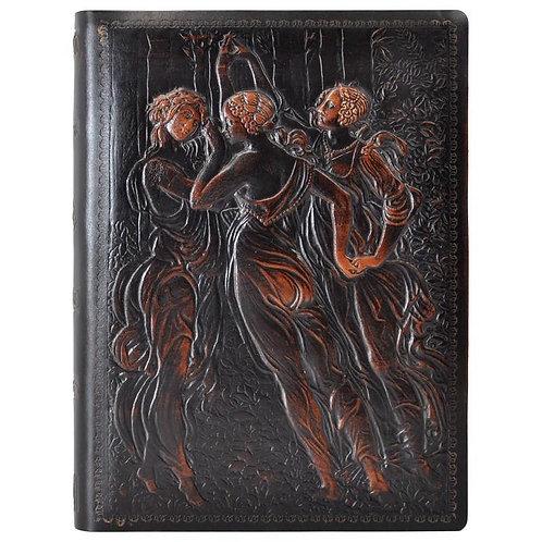 Jumbo Three Graces Leather Journal