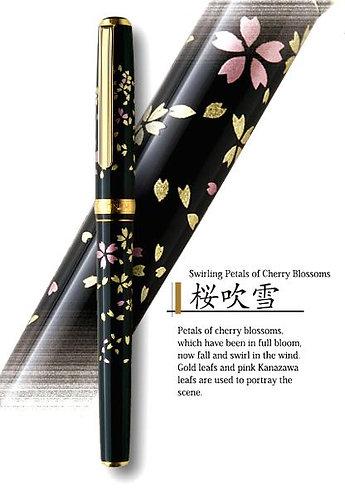 Platinum Maki-E Kanazawa Leaf Fountain Pen - Cherry Blossoms