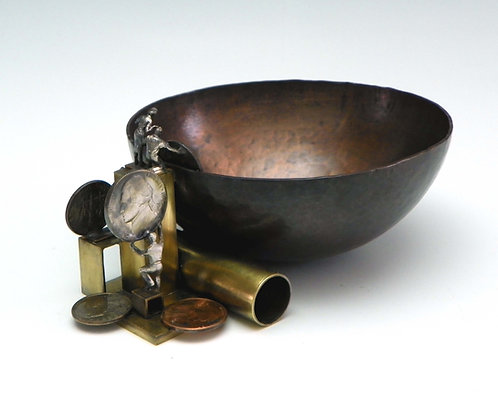 Artisan Hammered Copper Bowl
