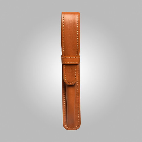 One Pen Hand Stitched Leather Case
