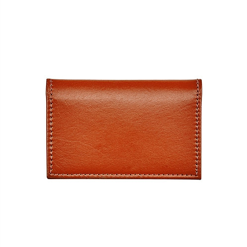 Vachetta Leather Foldover Business Card Case