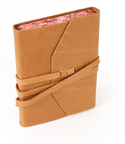 Cognac Leather Wrap Journal From Rome