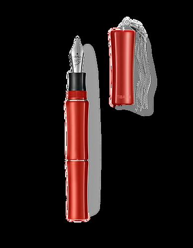 Tibaldi Bamboo Lipstick Red Fountain w/Sterling Silver Tassel