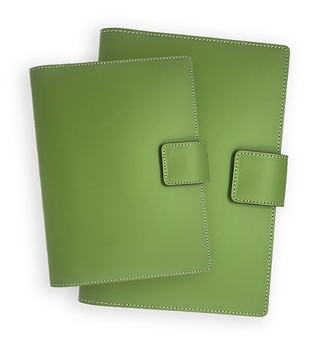 Italian Leather Snap Journal Green