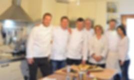 Happy chefs at the villa