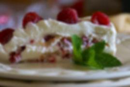 Delicious raspbery tart