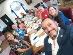 Wonderful Rotarian partners hosting & feeding our team well