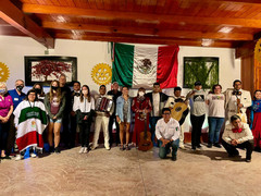 Mexico Team with host families and Mariachis