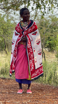 Maasai women leader thanks team for donated suppliesjpg