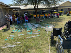 Some of crutches & wheelchairs for Talek Distribution
