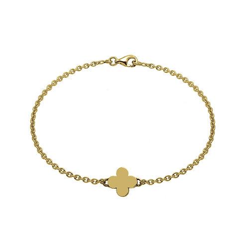 Bracelet chaîne TREFLE 10 or
