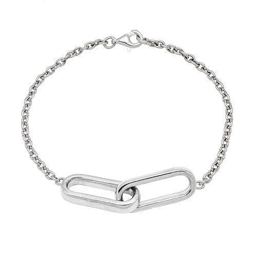 Bracelet chaîne YOU & ME GM argent