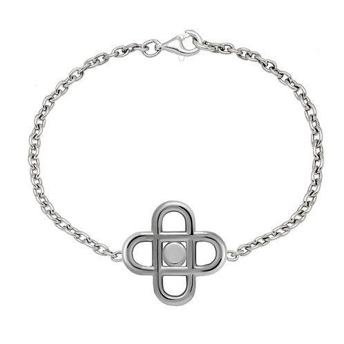 Bracelet chaine CROSS PASTILLE 20 argent