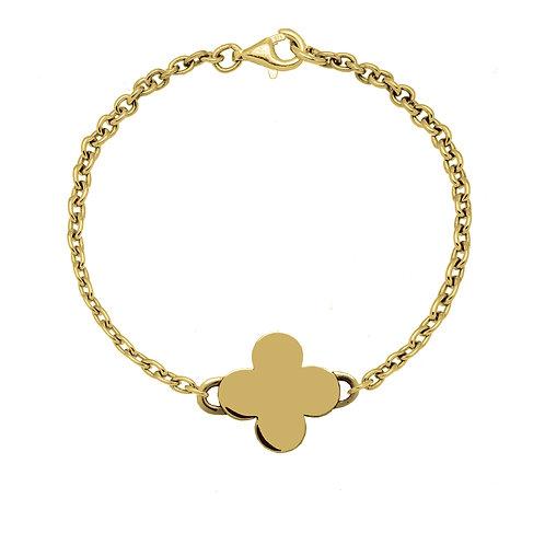 Bracelet chaîneTREFLE 18 or
