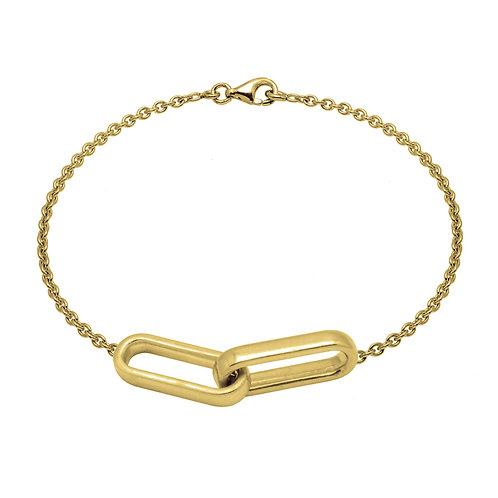Bracelet chaîne YOU & ME PM or