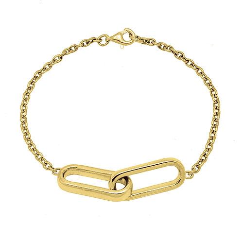 Bracelet Chaîne YOU & ME GM or