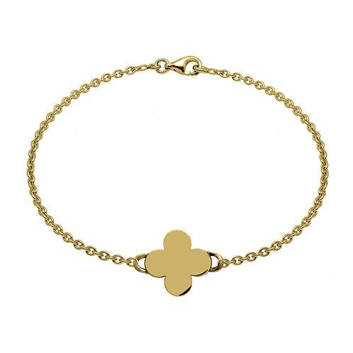 Bracelet chaîne TREFLE 15 or