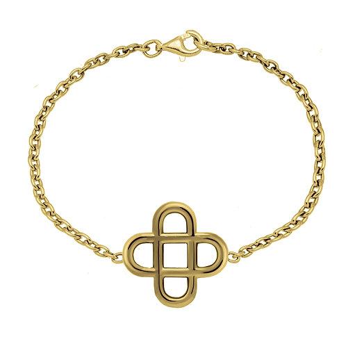 Bracelet chaine Cross 20 or