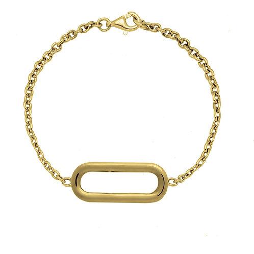 Bracelet chaîne HIPPODROME GM or