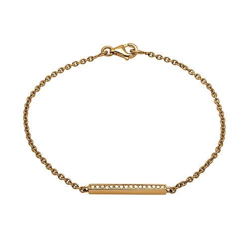 Bracelet chaîne BARETTE or diamants