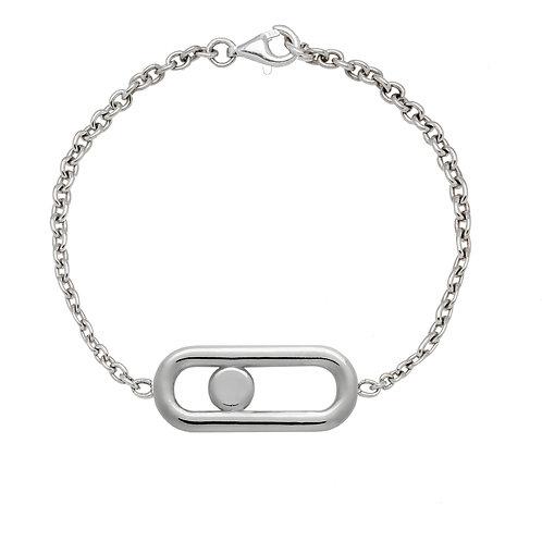 Bracelet chaine CLASSIQUE A  GM argent