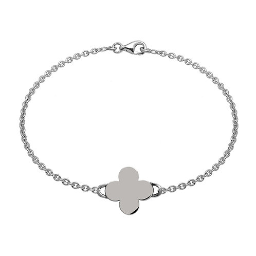 Bracelet chaîneTREFLE 15 argent