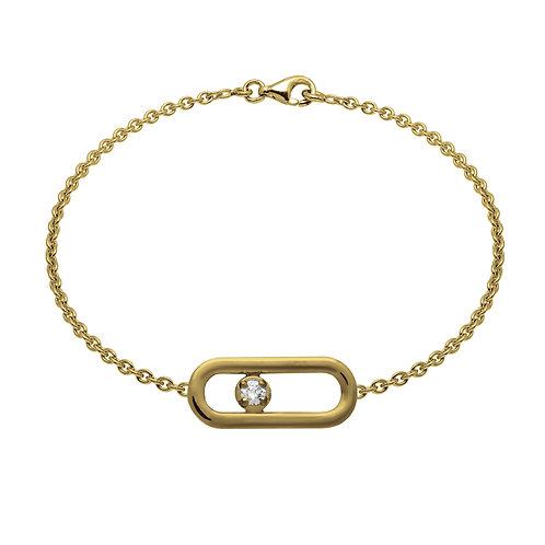 Bracelet chaîne CLASSIQUE A PM diamant or