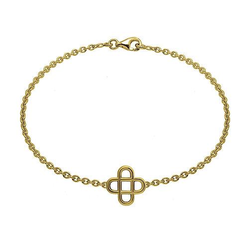 Bracelet chaine Cross 16 or