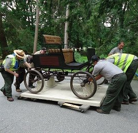 Locomobile from Edison's historic Glenmont garage  being sent out for preservation (2013)_