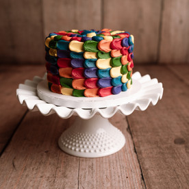 vintage rainbow Smash Cake