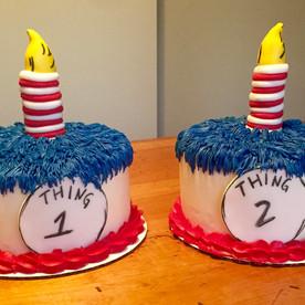 Thing 1 Thing 2 Smash Cake