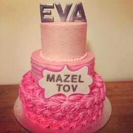 Bat Mitzvah Cake Pink