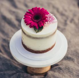 naked flower Smash Cake