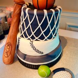 Bar Mitzvah Sports Cake
