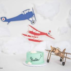 plane Smash Cake