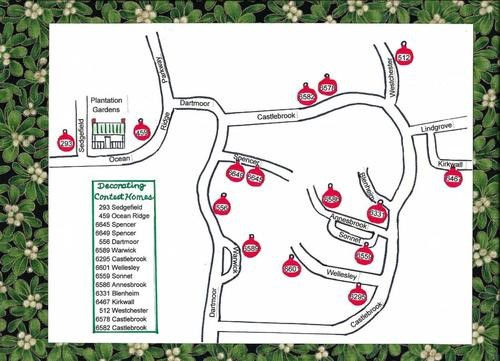 Map to visit Holiday Exterior House tour
