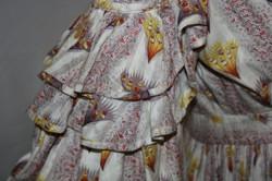 Printed cotton dress c.1837