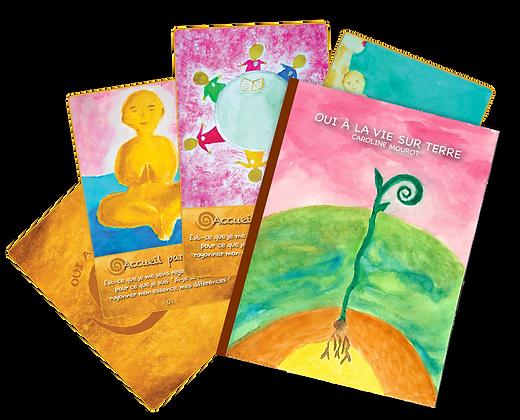 """Coffret carte et livre """"Oui à la vie sur terre"""""""