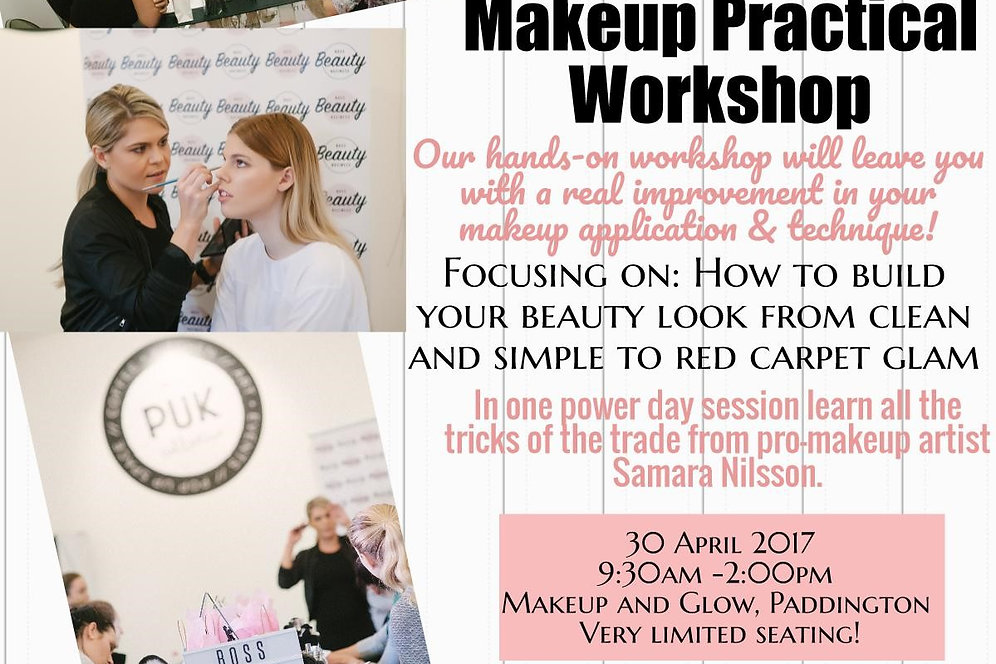 Full Day Makeup Workshop 17 Sept PLUS Makeup Weapons Brushes