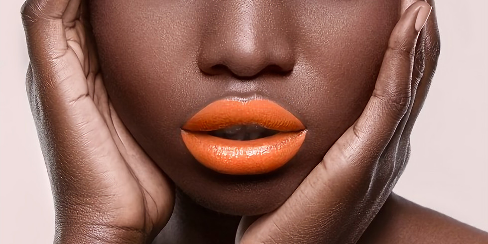 Makeup for Deep Skin Tones + Sharp Lips and Winged Eye-Liner
