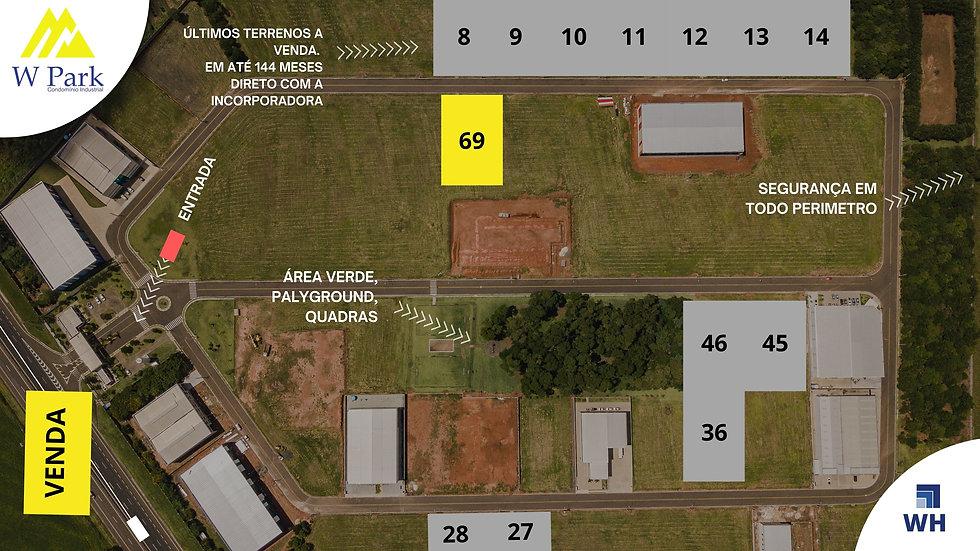 VENDA - Lote 69 - 2.095,11 M2 - W Park - Mogi Mirim