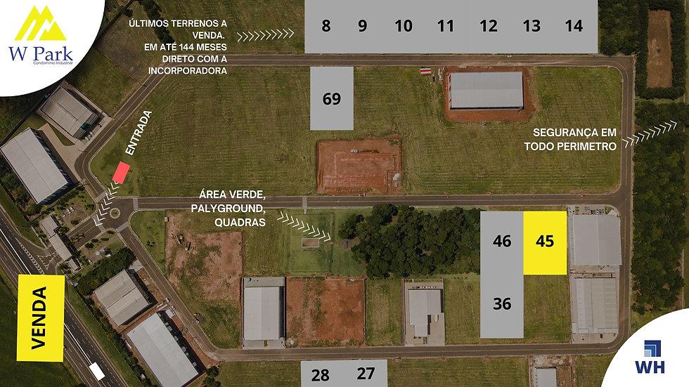 VENDA Lote 45 - 2.318 M2 - W Park - Mogi Mirim