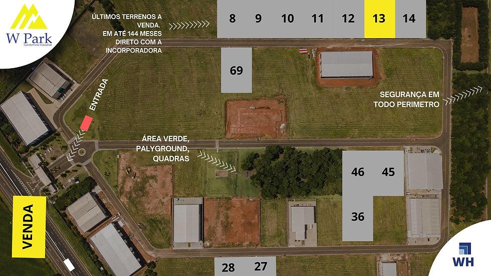VENDA Lote 13 - 2.298M2 - W Park - Mogi Mirim